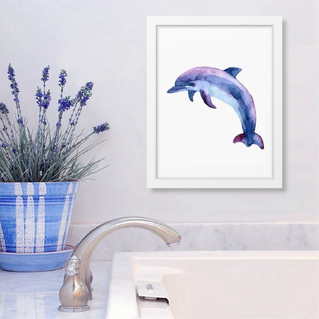 Ocean Animal Dolphin Print Wall Pictures Home – TheAnimalVerse