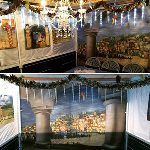 Sukkah Banner by Shira Auman Art & Design - View of Jerusalem