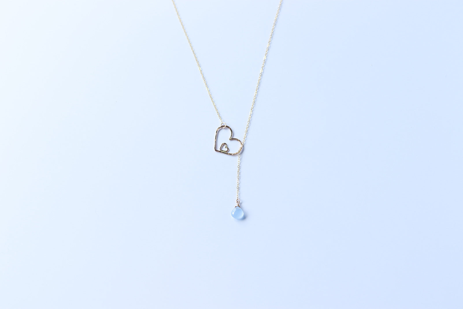 MAILE Collection: Baby Blue Chalcedony Necklace