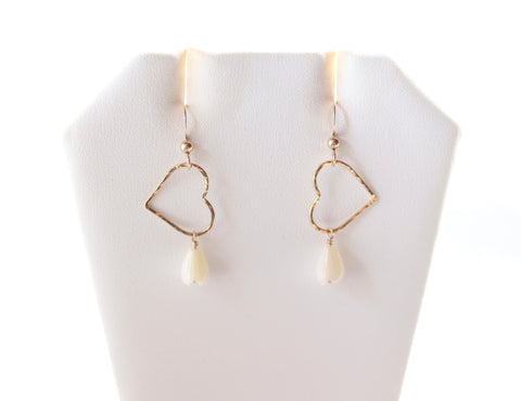 AMARA Pikake Sweetheart Earrings