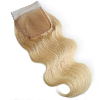 (12A) Super Premium 613 Russian Blonde Closures Luxurious Hair Collection
