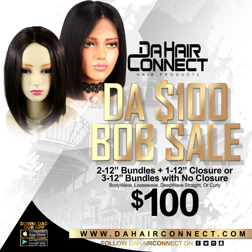 DaHairConnect BoB Sale (2) 12'' Bundles & (1) 12