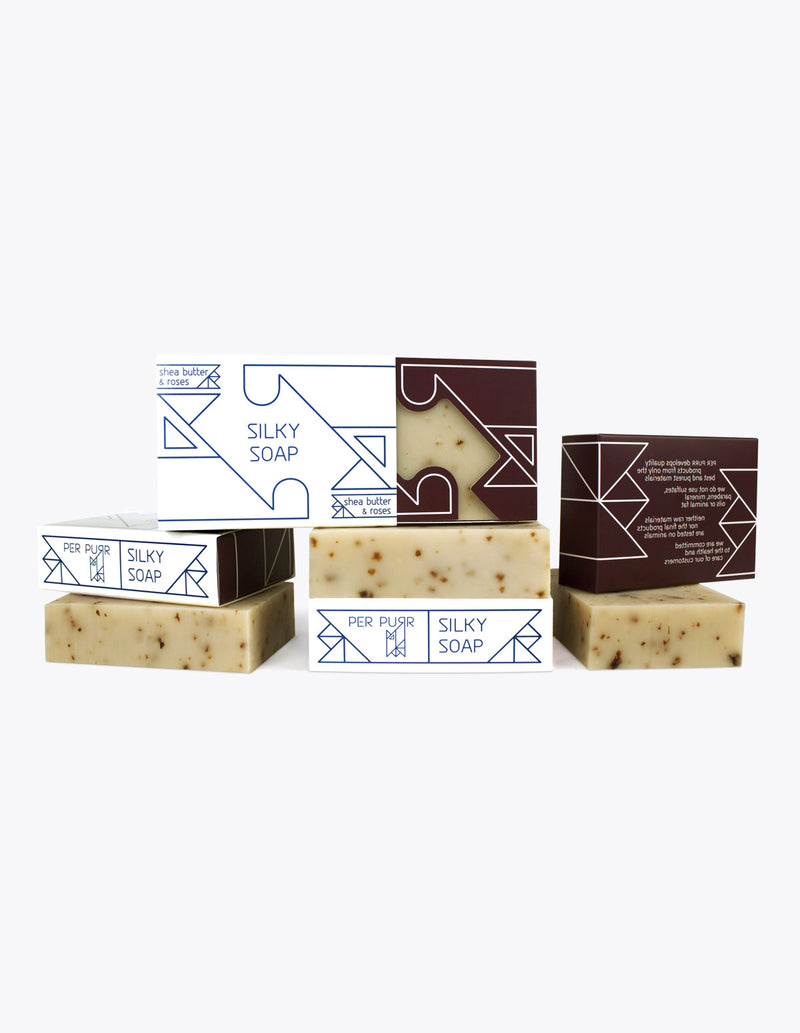 Per Purr Silky Soap with Rose and Shea - Palasaippua Koko Keholle