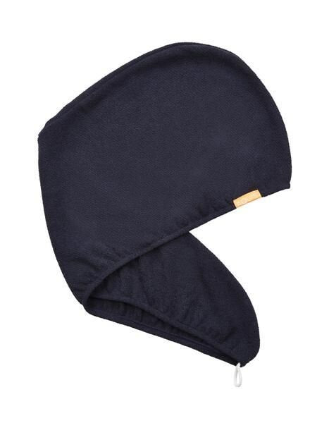 Aquis Hair Turban Stormy Sky, dark blue