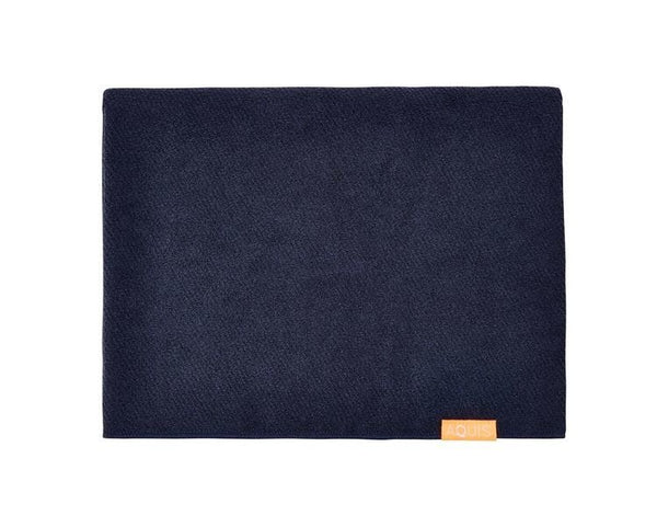 Aquis Long hair towel, dark blue