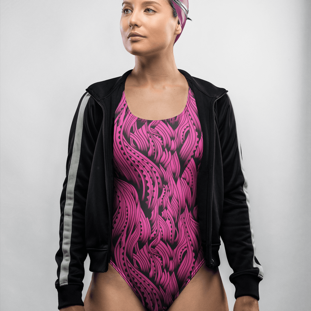Pink Waves | One-Piece Swimsuit