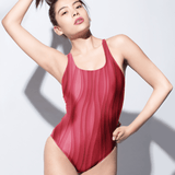 Red Waves | One-Piece Swimsuit
