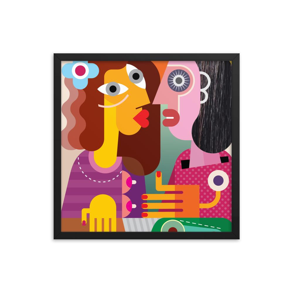 Two Women | Framed poster - WearEasy