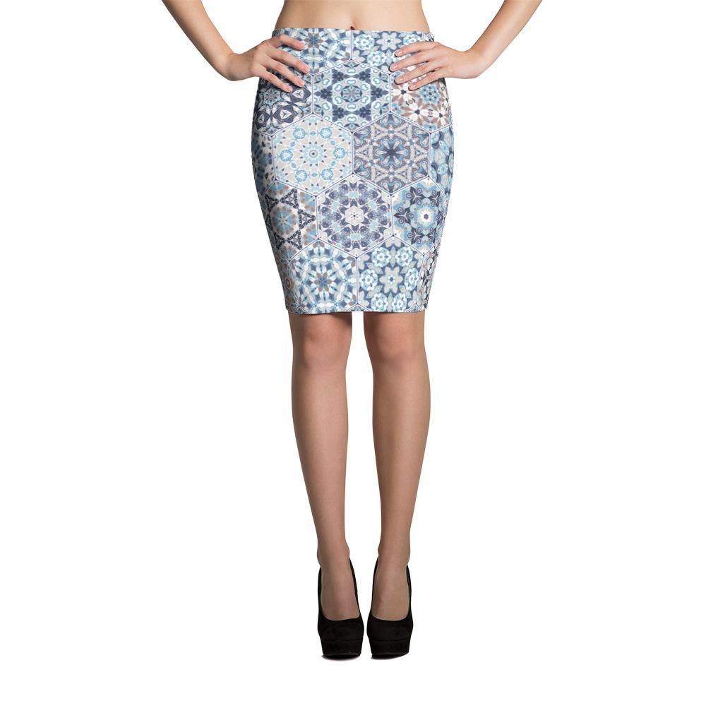 Hexagonal | Pencil Skirt - WearEasy