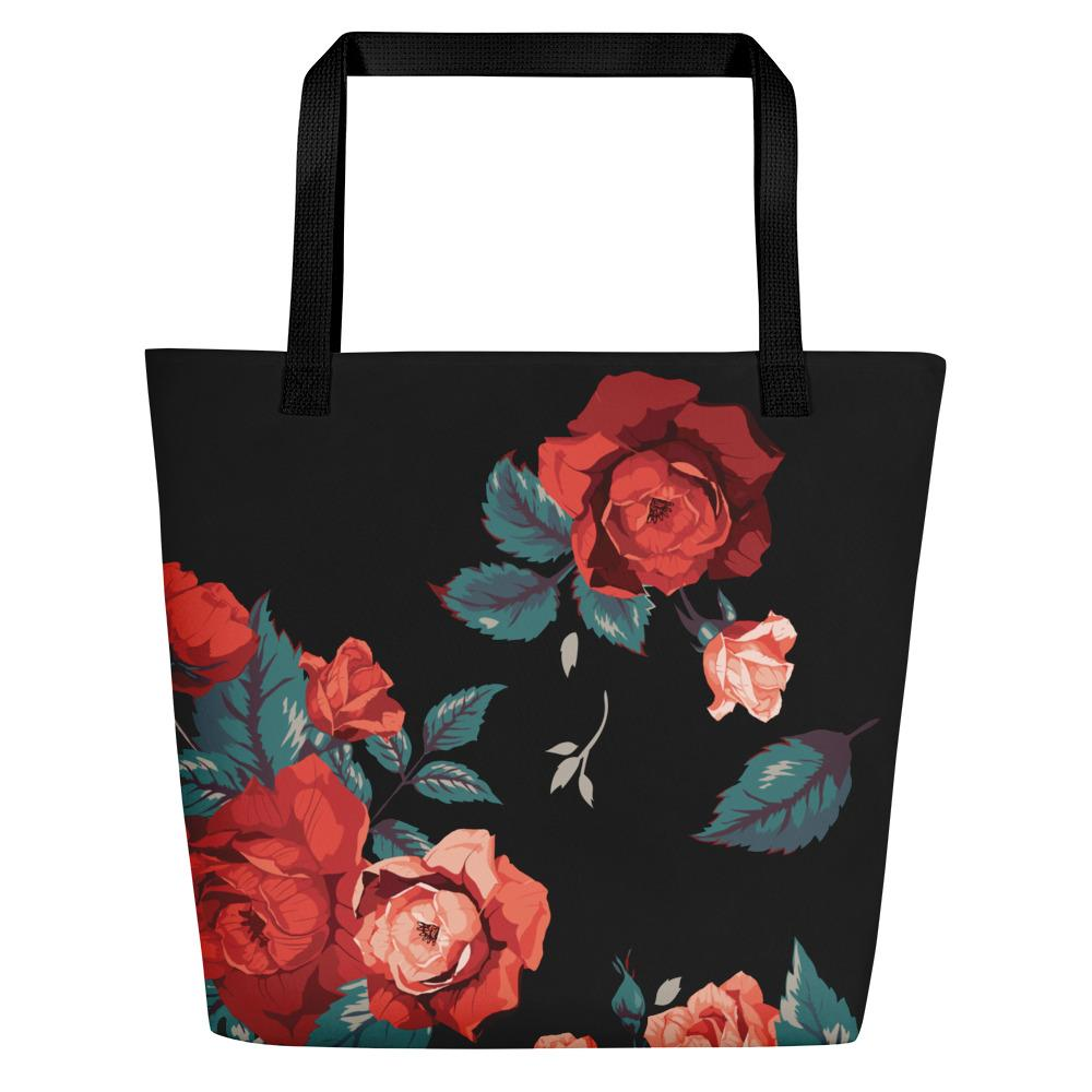 Red Rose | Beach Bag