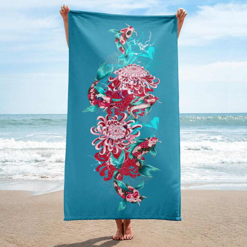 Red Fish | Beach Towel - WearEasy