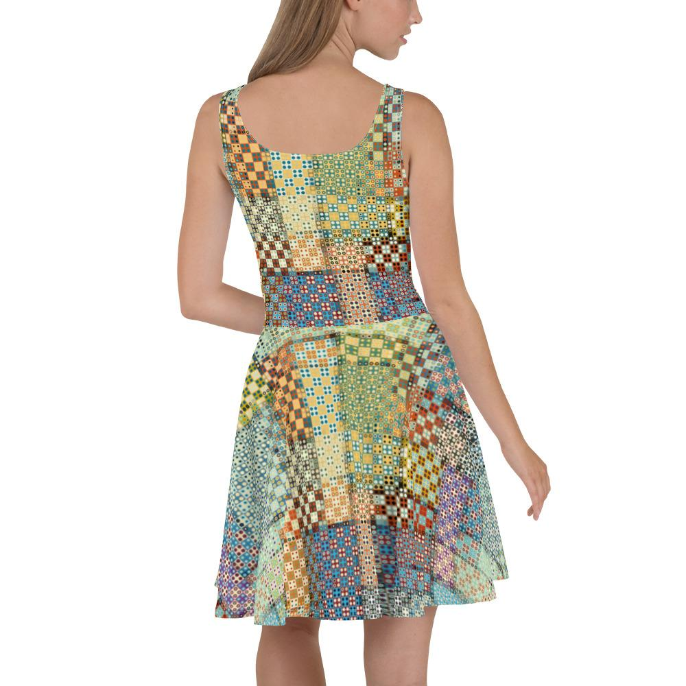 Patchwork | Skater Dress - WearEasy