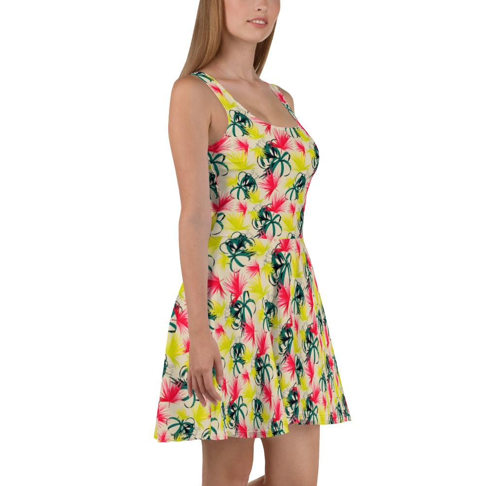 Floral | Skater Dress - WearEasy