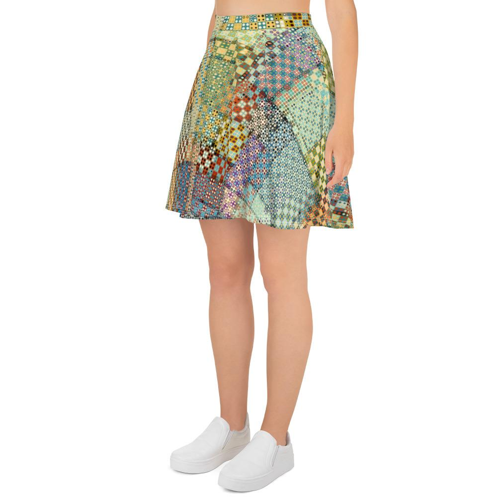 Patchwork | Skater Skirt - WearEasy