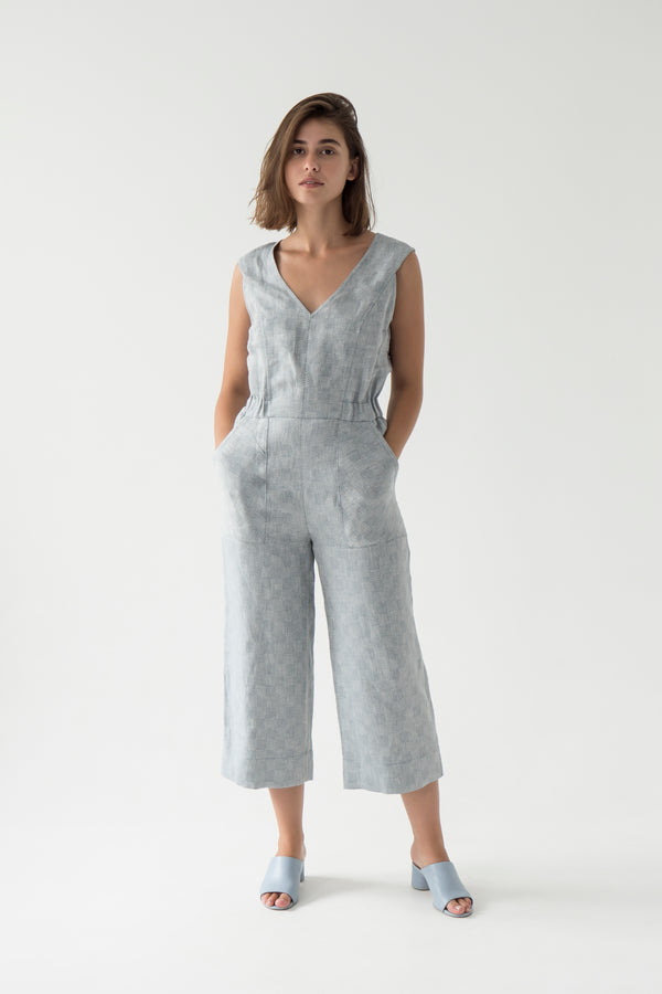 formal linen jumpsuit for women