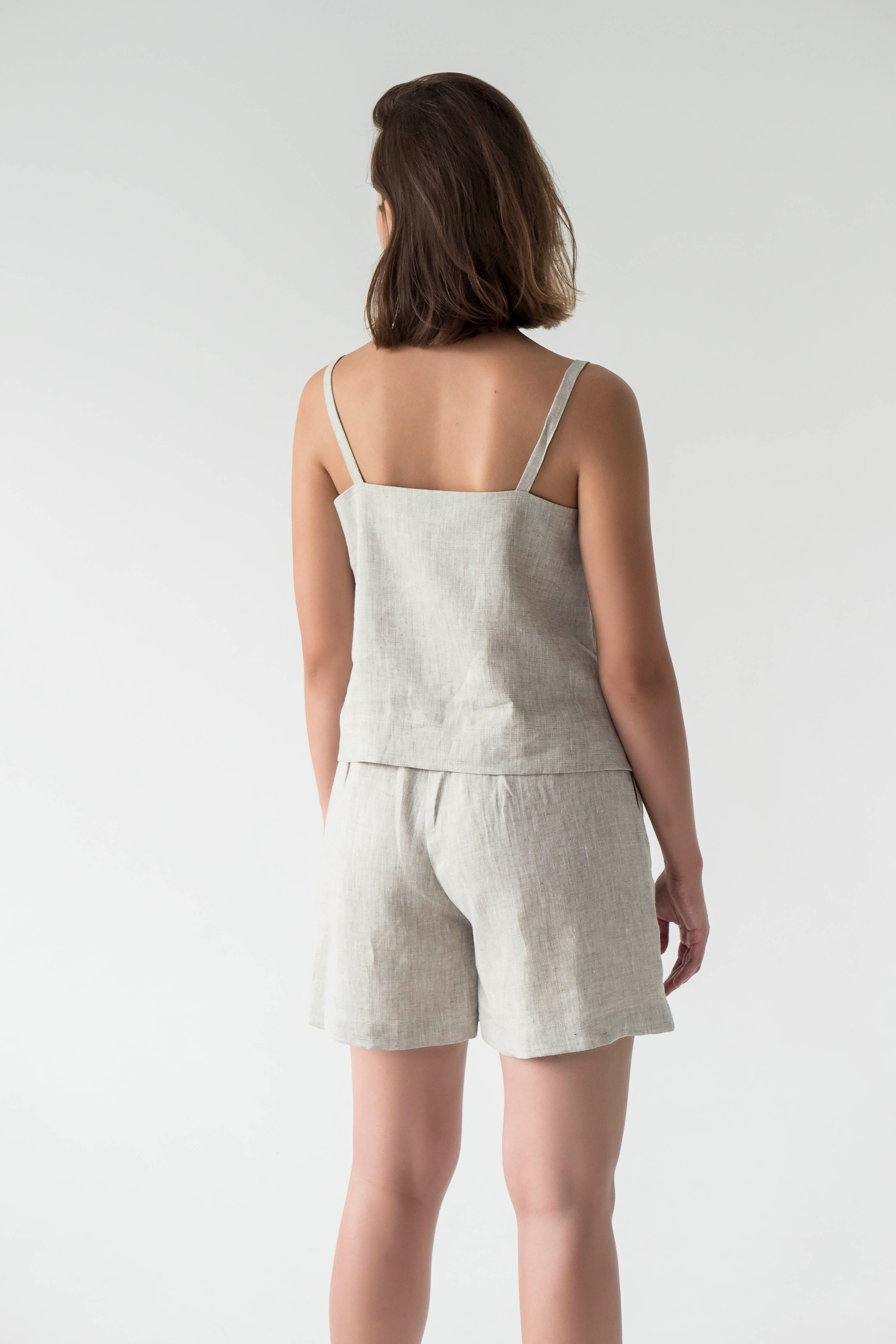linen set for women top and shorts
