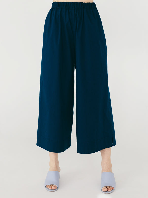 high waisted pants in blue navy