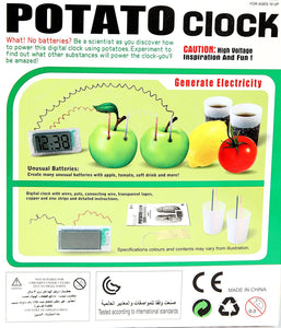 Potato Power DIY Clock