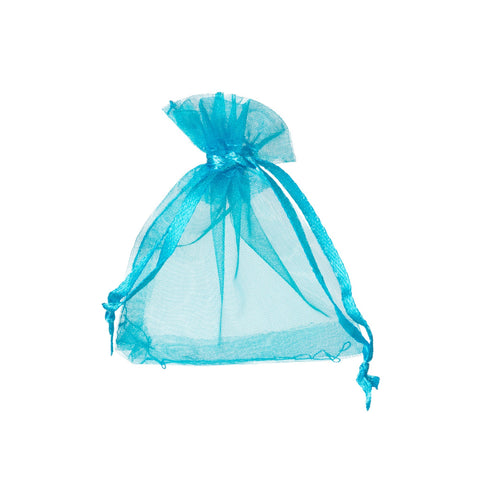 "4"" X 6"" Teal Organza Bags (Pack of 10)"