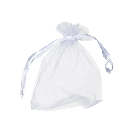 "White Organza Bags 4x6"" (Pack of 10)"