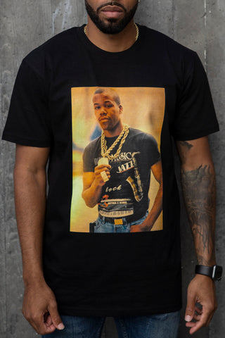 Too $hort Gold Chain - T-Shirt (Black)