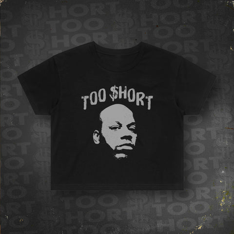 Too $hort Stencil Art - Crop Tee (Black)