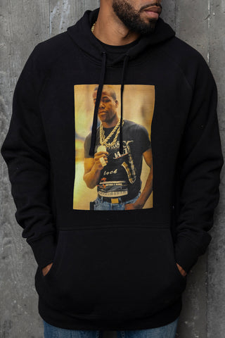 Too $hort Gold Chain - Hoodie (Black)