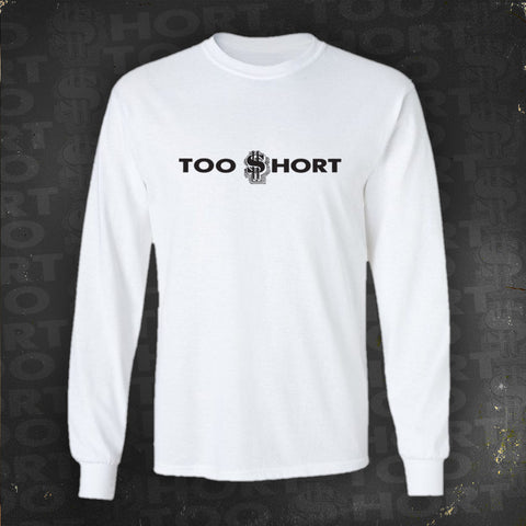 Too $hort Logo - Long Sleeve T-Shirt (White)