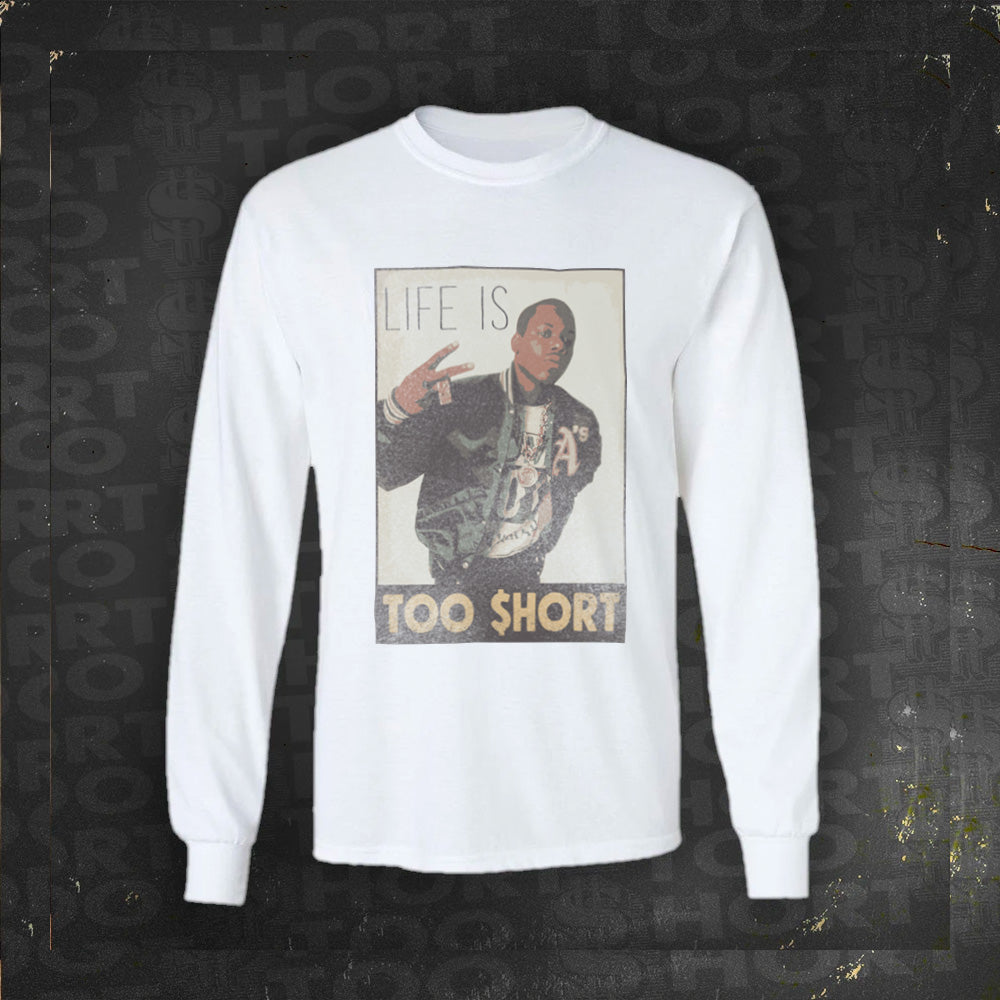 Vintage Life is Too $hort - Long Sleeve T-Shirt (White)