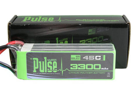 PULSE 3300mAh 6S 22.2V 45C - LiPo Battery - SABAvio USA
