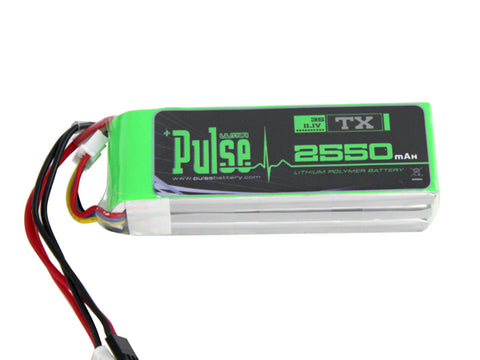 PULSE 2550mAh 3S 11.1V - Transmitter Battery