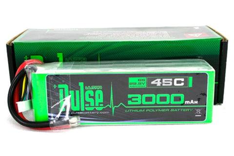 PULSE 3000mAh 6S 22.2V 45C - LiPo Battery - SABAvio USA