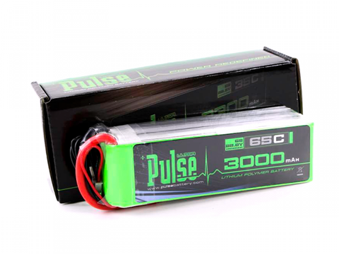 PULSE 3000mAh 6S 22.2V 65C - LiPo Battery - SABAvio USA