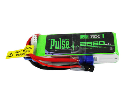PULSE 2550mAh 2S 7.4V 15C - Receiver Battery