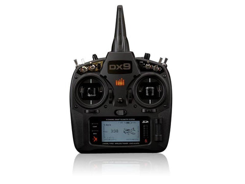 Spektrum DX9 Black 9-Channel DSMX Transmitter Only Mode 2 - SABAvio USA