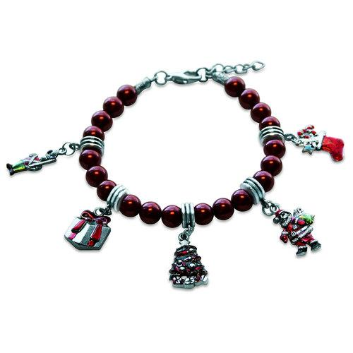 Christmas Charm Bracelet in Silver