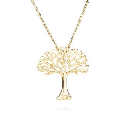 Wisdom Tree Golden Necklace