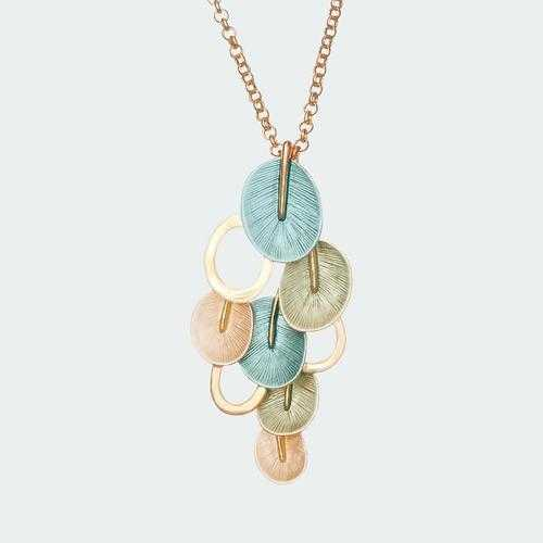 Eclectic Petal Necklace - Turquoise