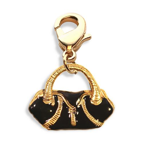 Flap Purse Charm Dangle in Gold