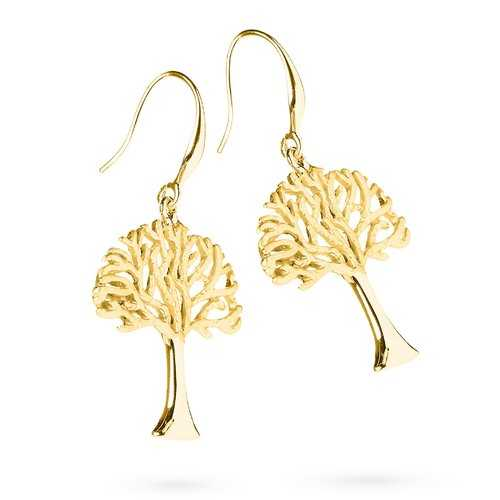 Wisdom Tree Golden Earrings