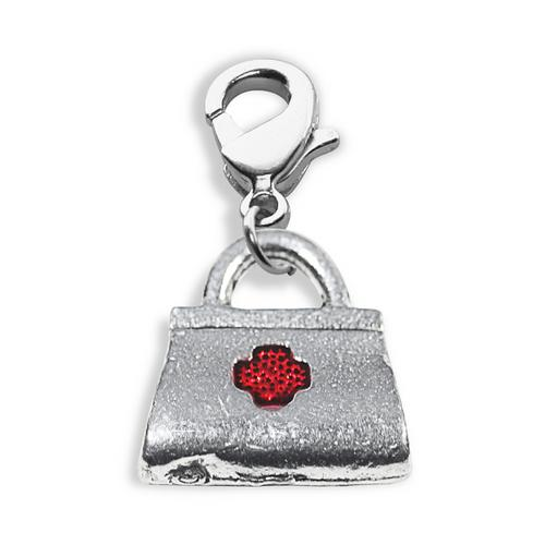 Medical Bag Charm Dangle in Silver
