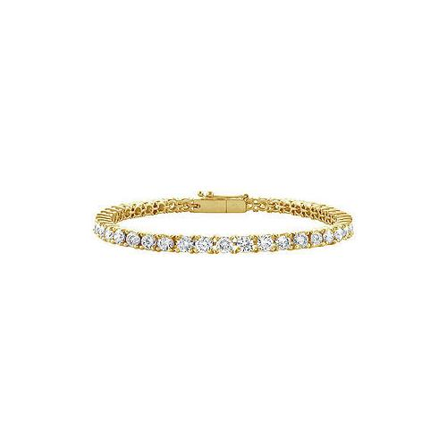 Diamond Tennis Bracelet : 18K Yellow Gold - 3.00 CT Diamonds