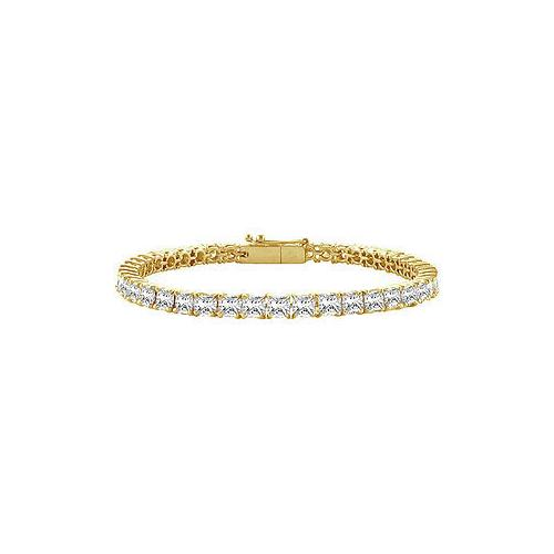 Diamond Tennis Bracelet : 18K Yellow Gold – 5.00 CT Diamonds