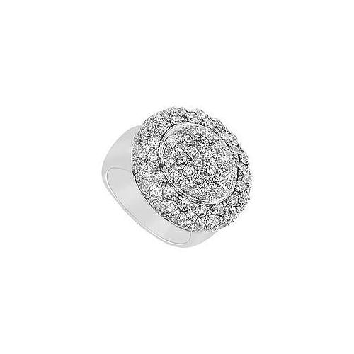 Diamond Ring : 14K White Gold - 2.50 CT Diamonds