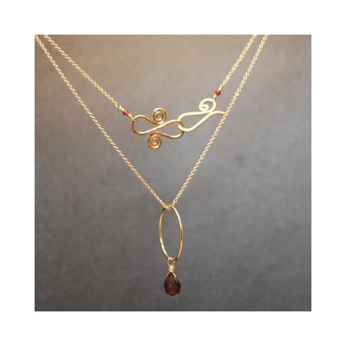 Necklace 175 - choice of stone - Silver