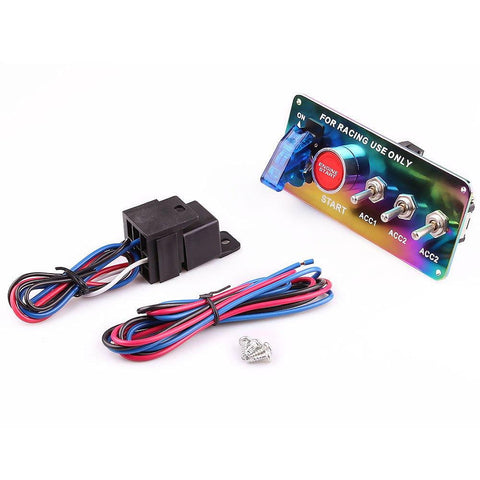 Racing Ignition Switch DC 12V Neo Chrome - Top JDM Store
