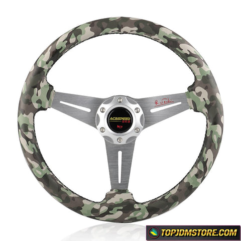 ACESPEED Camouflage Steering Wheel 350mm 14inch