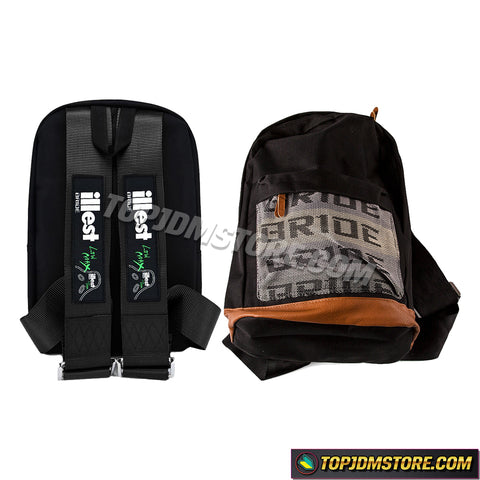 illest backpack,car backpack,bride backpack,jdm backpack,racing harness backpack,racing backpack,bride racing backpack,bride bookbag,jdm racing backpack,jdm bride backpack,racing seat belt backpack,racing bookbag,