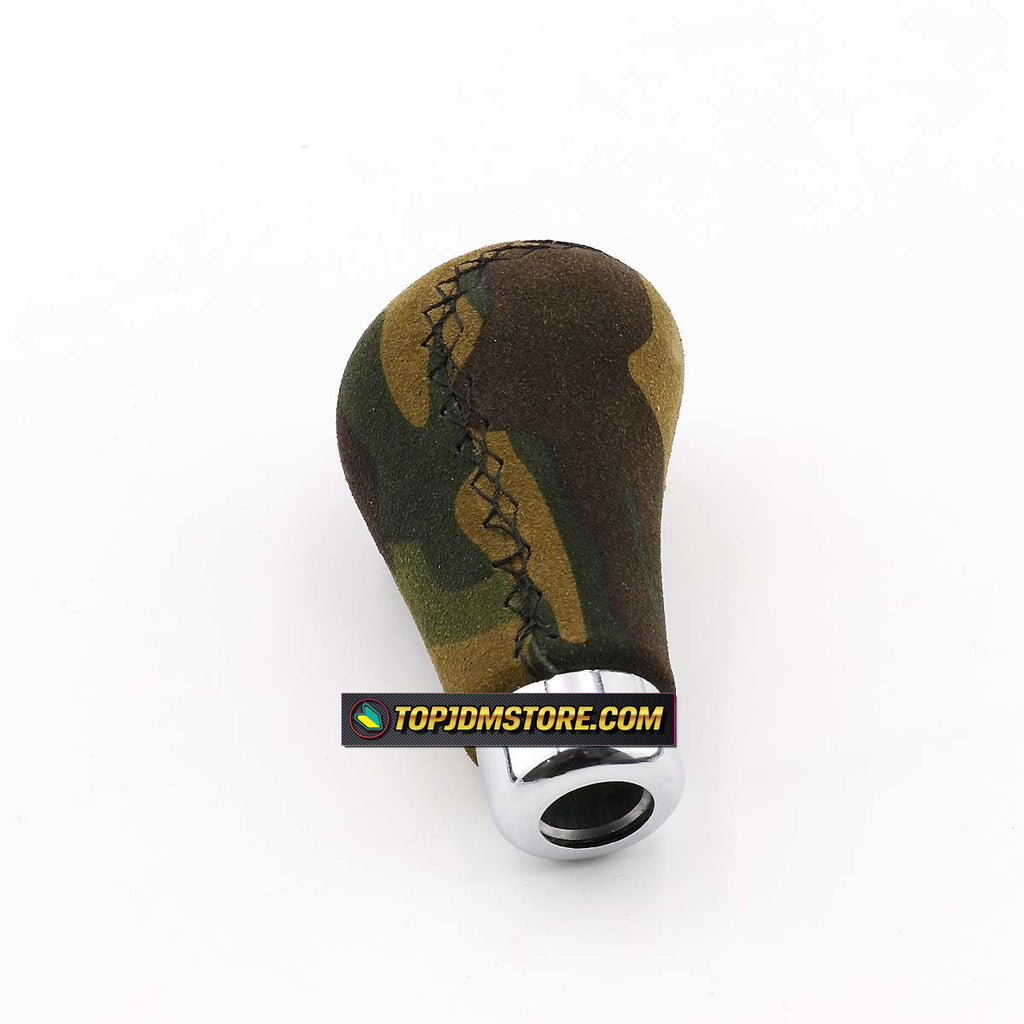 Top10 Racing Suede of Camouflage Manual Shift Boot and Shift Knob