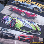 Cambered Civic EG JDM Car Towel 75cm x 35cm